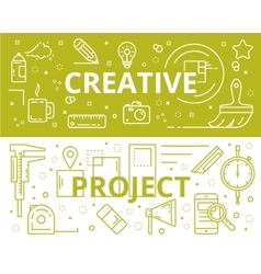 Creative and project concept thin line flat vector