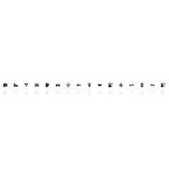 Electro car - flat icons vector