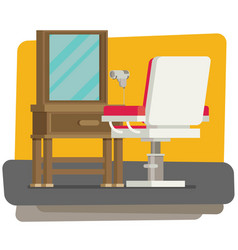 Flat barbershop interior vector