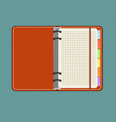 flat design notepad with place for text vector image vector image