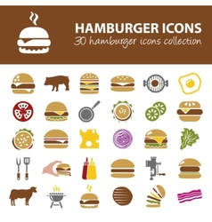 Hamburger icons vector