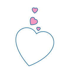 Isolated cute big heart vector