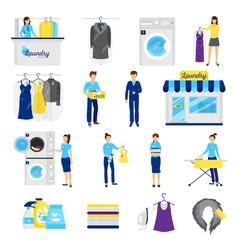 Laundry service set vector