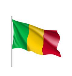 Mali realistic flag vector