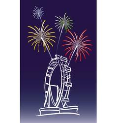 New year in vienna vector