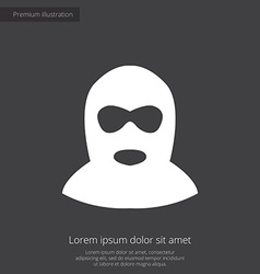 offender premium icon white on dark background vector image