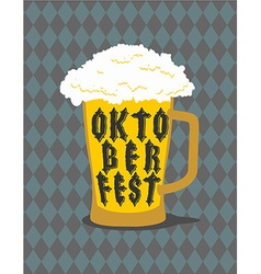 Oktoberfest mug beer typography alcohol for vector