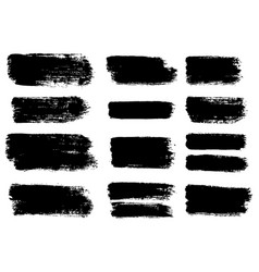 Painted grunge stripes set vector