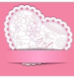 Paper background with Heart vector image
