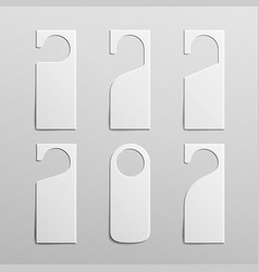 paper plastic door handle lock hangers clean door vector image
