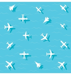 planes fly vector image