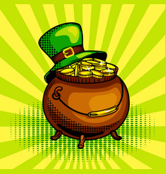pot of gold pop art vector image