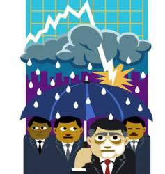 recession storm vector image
