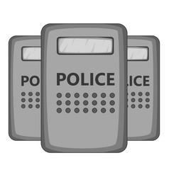 Riot shields icon monochrome vector