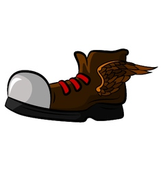 Shoe with wings for your design vector image