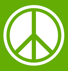 sign hippie peace icon green vector image