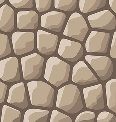 Texture of stones in brown colors vector image