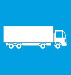 Truck icon white vector