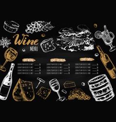 wine restaurant menu vector image