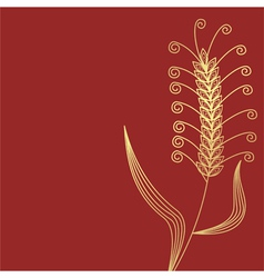 Wheat gold vector