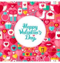 Flat valentine day greeting vector