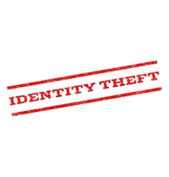 Identity theft watermark stamp vector