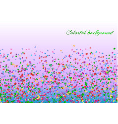Colorful confetti decoration vector