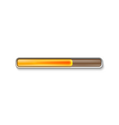 orange loading bar isolated on white background vector image