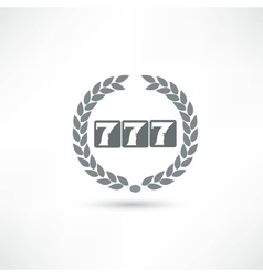 777 icon vector