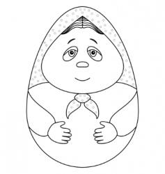 doll Matryoshka vector image