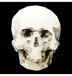 Low poly crystal skull vector