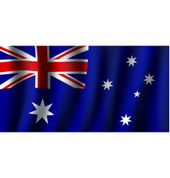 3d flag of australia national symbol vector