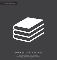 Book premium icon vector