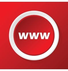 Www icon on red vector