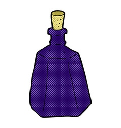 Comic cartoon ink bottle vector