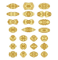 Set of gold design elements and page decorations vector