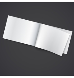 Blank opened magazine template vector