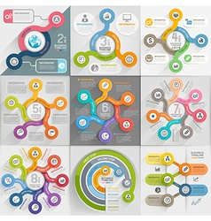 Infographics template set vector