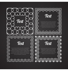 Ornamental frames set design retro template vector