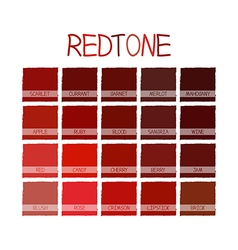 Redtone color tone vector
