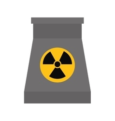 Biohazard icon nuclear plant design vector