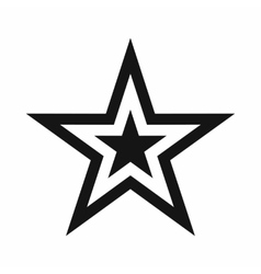 Star icon simple style vector