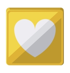 Heart love isolated icon design vector