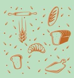 Bakery pattern vector