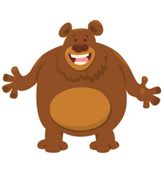 Bear cartoon animal vector