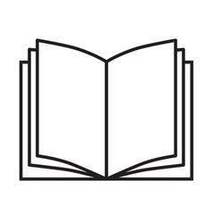 Book icon on white background book sign flat vector
