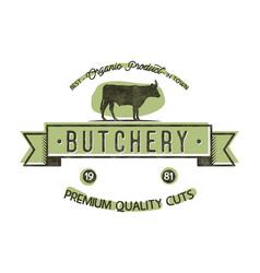 butchery shop vintage emblem butchery store logo vector image