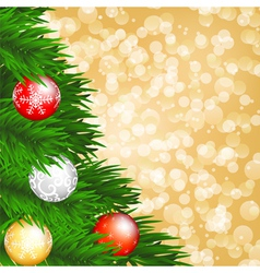 Christmas card with tree vector image