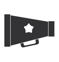 cinema director megaphone isolated icon vector image