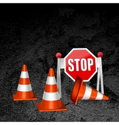 construction repair of roads concept background vector image